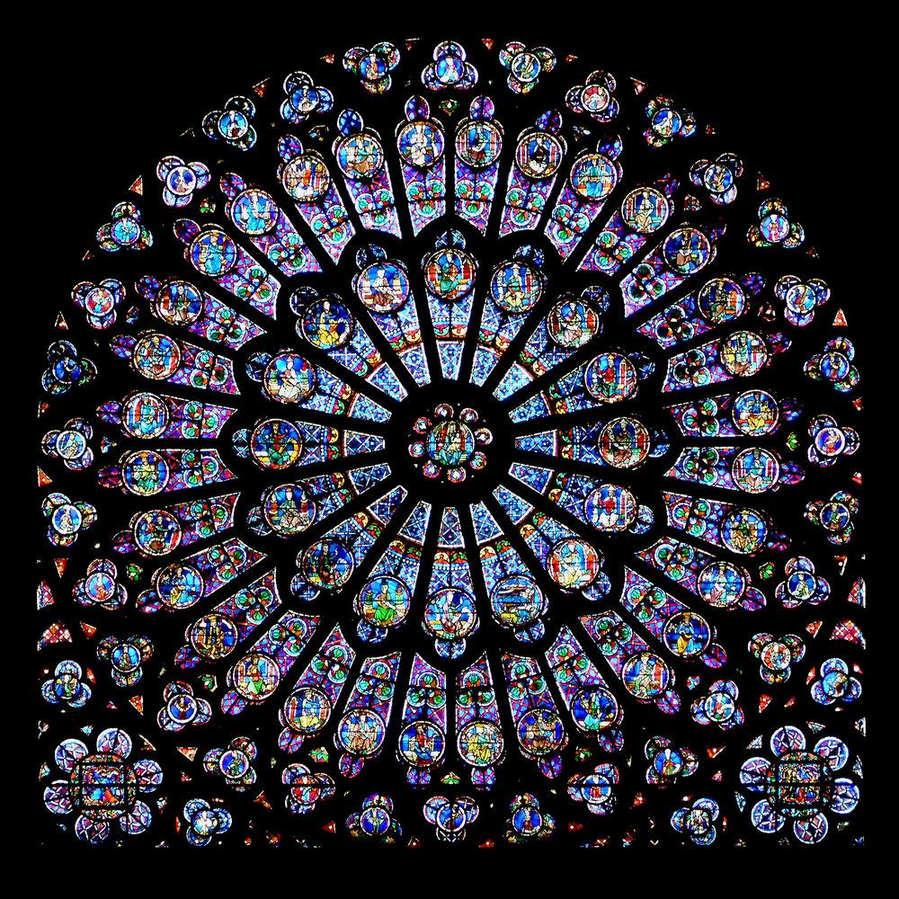 THE ROSE WINDOW at NOTRE DAME DE PARIS (PHOTO: Krzysztof Mizera )