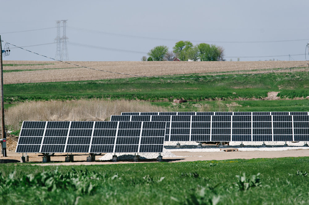 Peoria Illinois commercial solar array