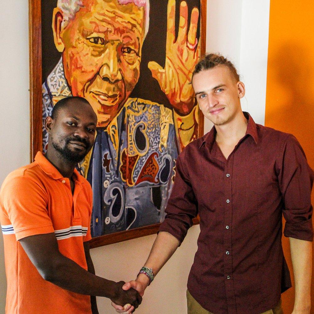 Abdul Jafary and CEEZ founder Lorenz Herrmann