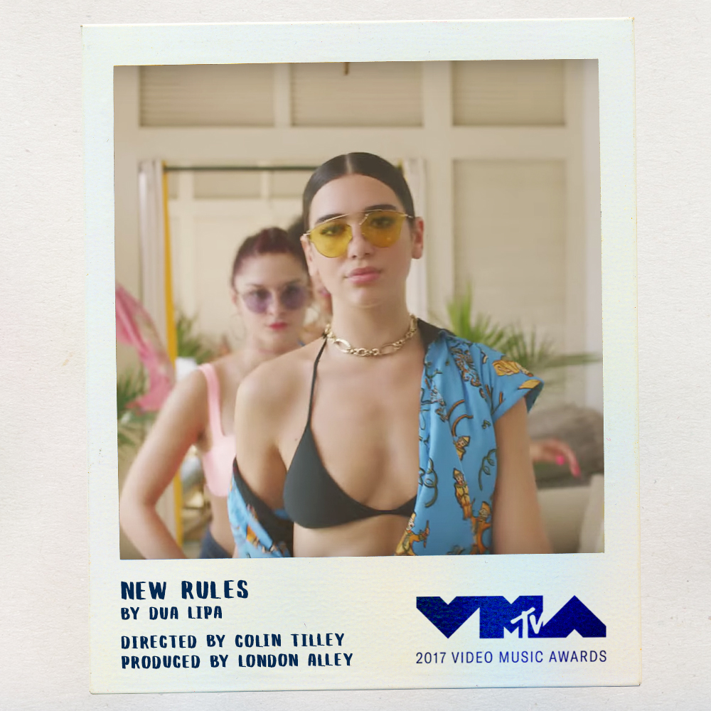 Designed an interchangeable template for Swim Social to use in light of the VMA nominee announcements