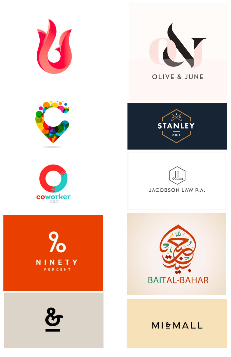 Logo inspiration and style referenced