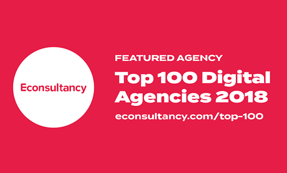 Featured in Econsultancy's Top 10 digital agencies - ARTICLE: RANKING