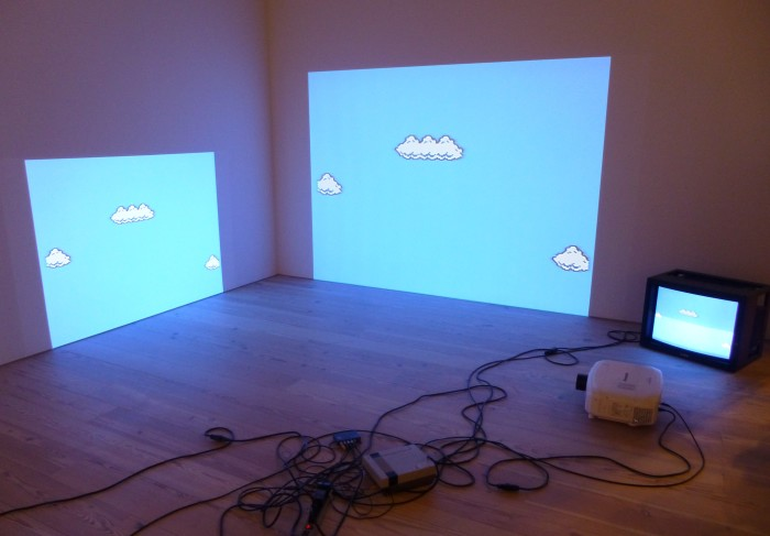 Super Mario Clouds by Corey Arcangel as seen at the Whitney