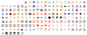 The original set of 176 emojis, designed for a Japanese mobile provider and acquired by the Museum of Modern Art.CreditShigetaka Kurita/Museum of Modern Art