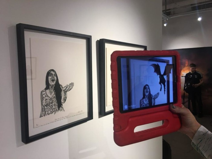 Zenka's AR artwork at Art of VR, presented by The VR Society at Sotheby's New York