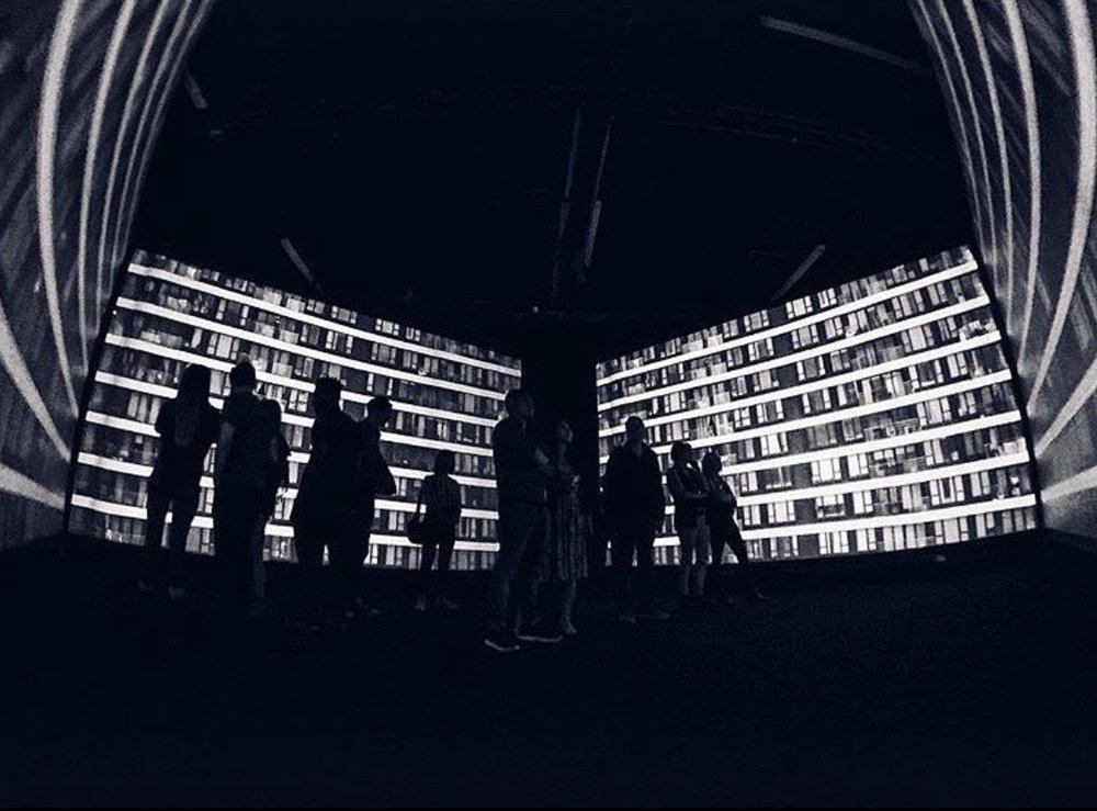 Simon Birch, 'Tannhauser', 2016. Realized by Scott Sporleder, Jennifer Russell, with sound design by Gary Gunn. 4-channel video featuring a Hong Kong cityscape. Still by Matthew Sebastian Wood.