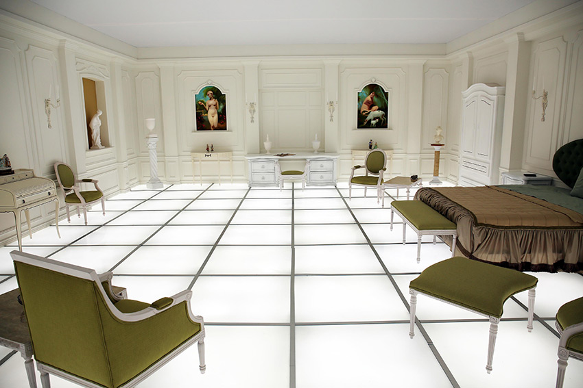 The 'Barmecide Feast' by Simon Birch and KPlusK Assoc. was a replica of The Otherworldly Bedroom from Stanley Kubrik's 2001: A Space Odyssey.