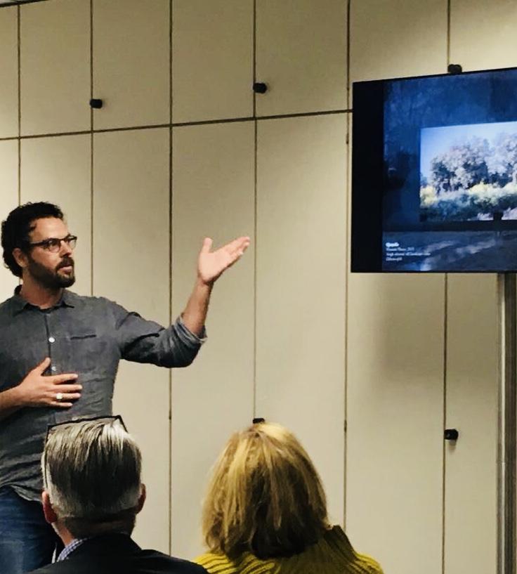 Niio Co-Founder, Oren Moshe @B3 discussing a work by Quayola. #digitalart