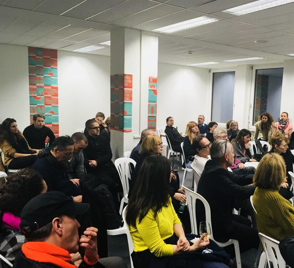 A large audience for Oren's panel @ B3. #digitalart