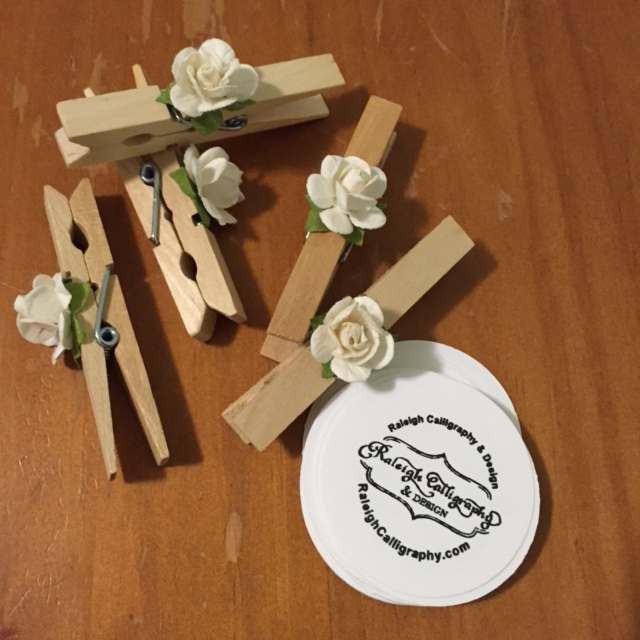 Flower Clothespins Scrambled