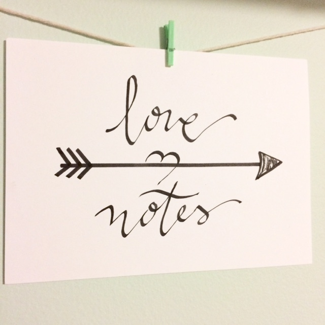 love notes with arrow
