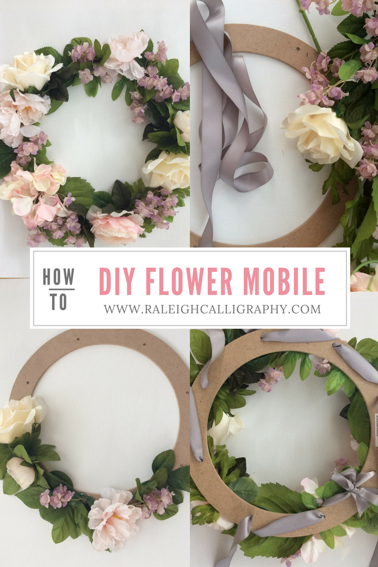 DIY Flower Mobile by Raleigh Calligraphy