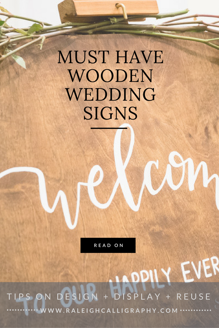 The sweetest wooden wedding signs! Plus tips for designing, displaying and even reusing them AFTER the wedding!