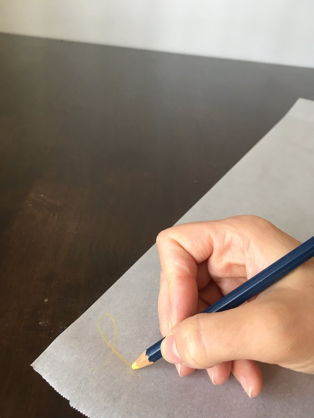 Step 3. - Before you get started, do a quick test to make sure your paper and material will work together. FYI- if you're using parchment paper, don't use markers...