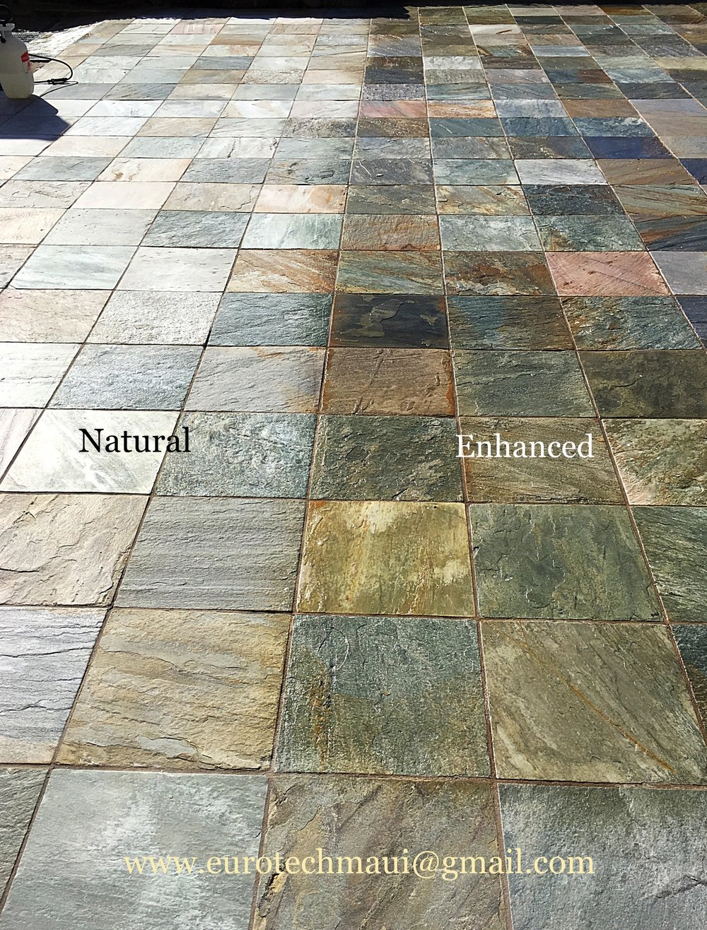 COLOR ENHANCEMENT ON STONE TILES SIDE BY SIDE
