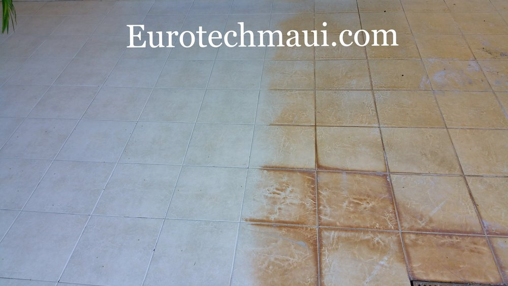 tile and grout restoration exterior maui, hawaii