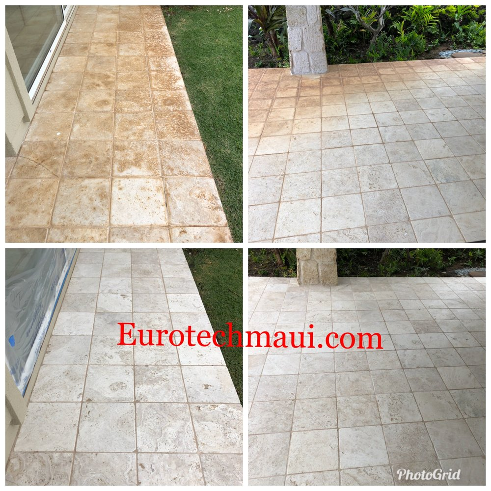 Stain removal travertine in wailea, maui