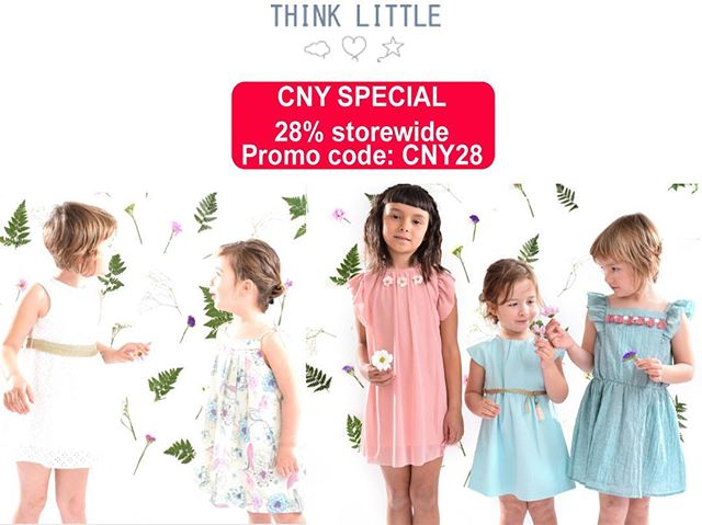 Gorgeous clothing for girls collection at #ThinkLittle Post CNY Sale: 28% Off till 28 Feb 2019 Enter promo code: CNY28 https://www.thinklittle-bcn.com/