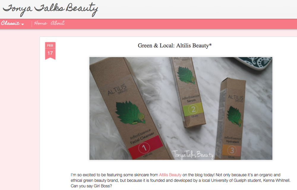 Tonya Talks Beauty - Beauty Blogger Review