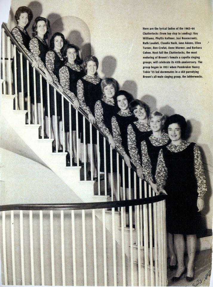 Tocks on the steps of Alumnae Hall, 1964