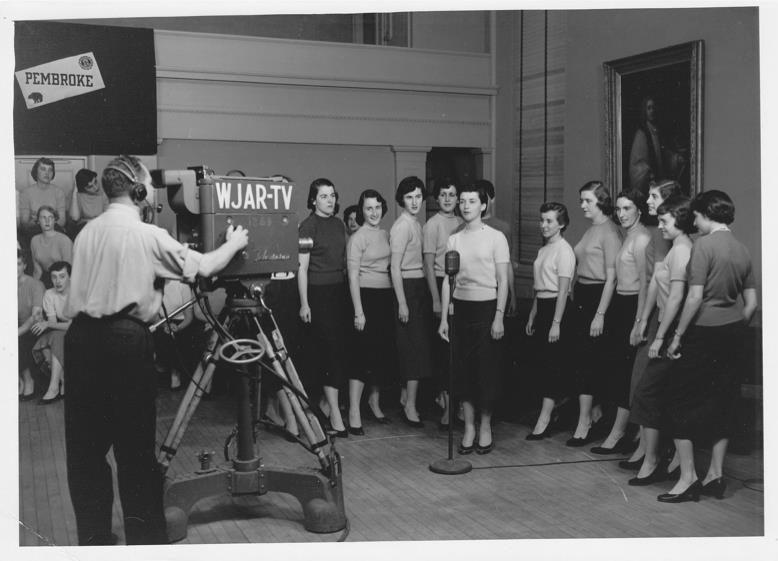 Performing on WJAR-TV in 1954