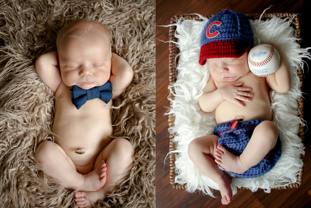 What a handsome boy! And he's already becoming a Cubs fan, just like his father.