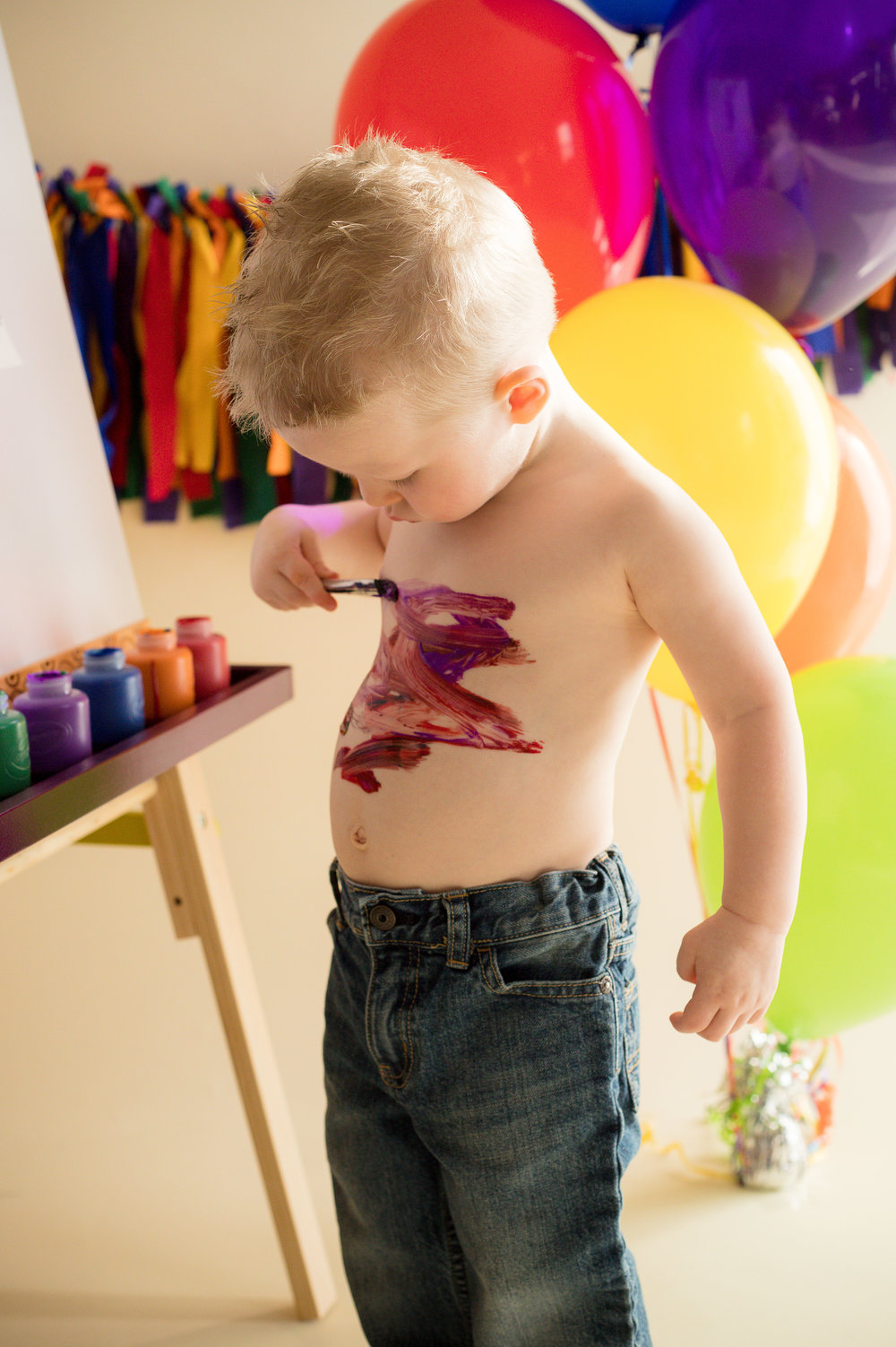 Why not take a break from painting on your easel to paint on your body?!