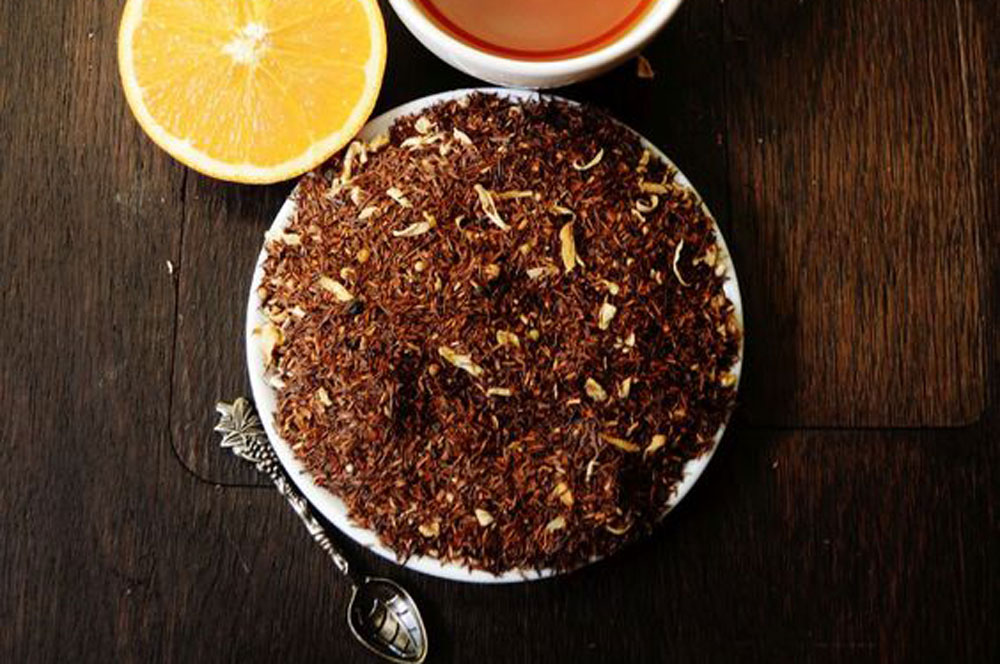 Rooibos - From South Africa, this redbush tea is naturally sweet and caffeine free
