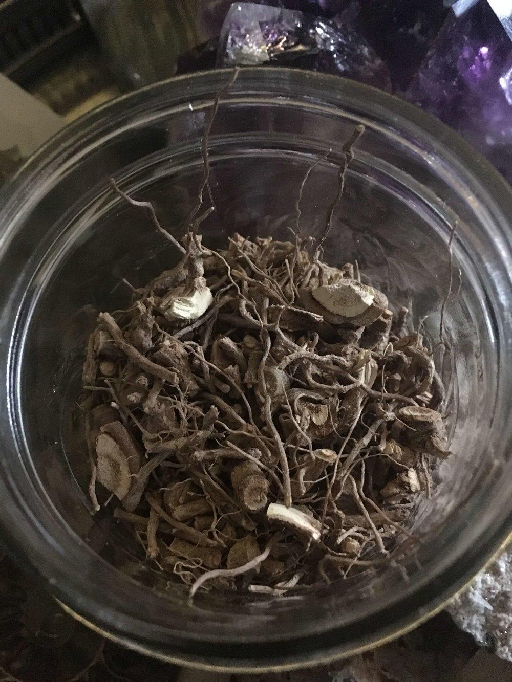 Dried Ashwagandha roots.JPG