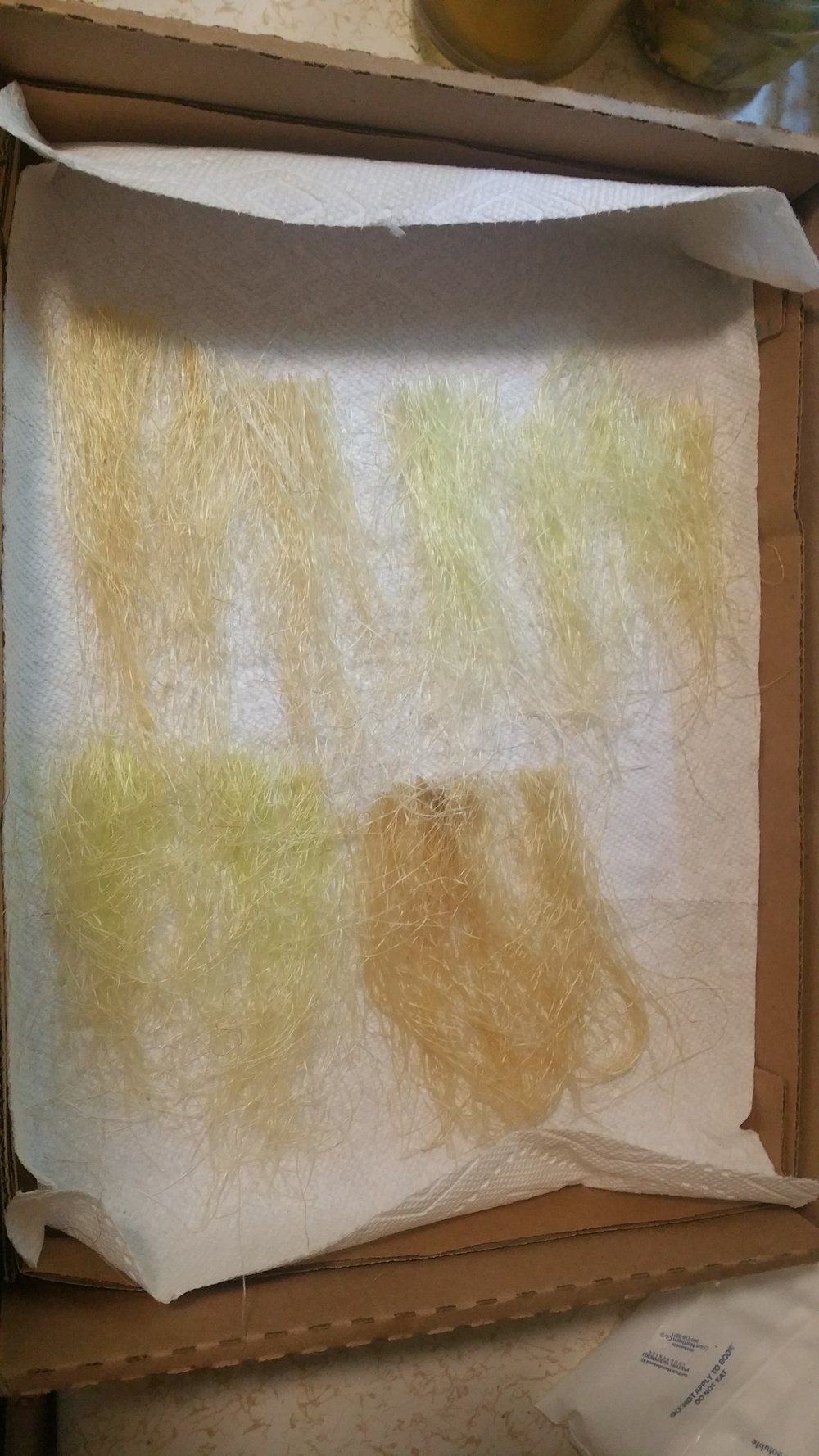 Corn silks drying