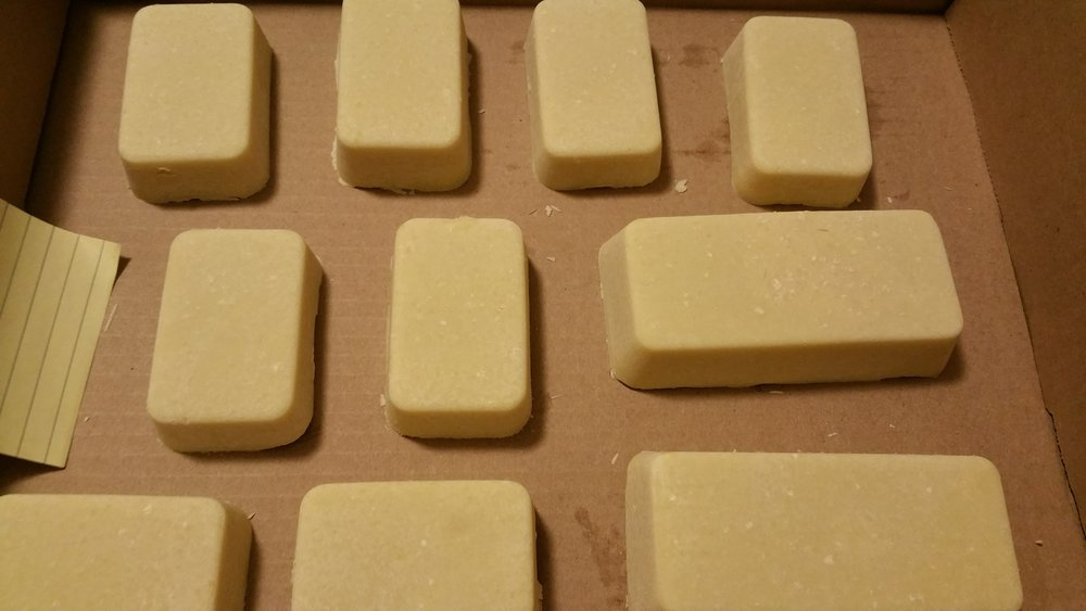 Soap curing.