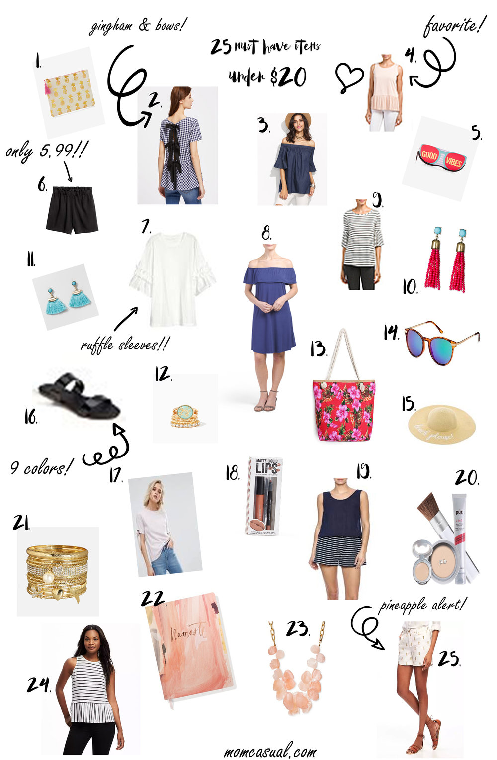 Spring and Summer Fashion Under $20