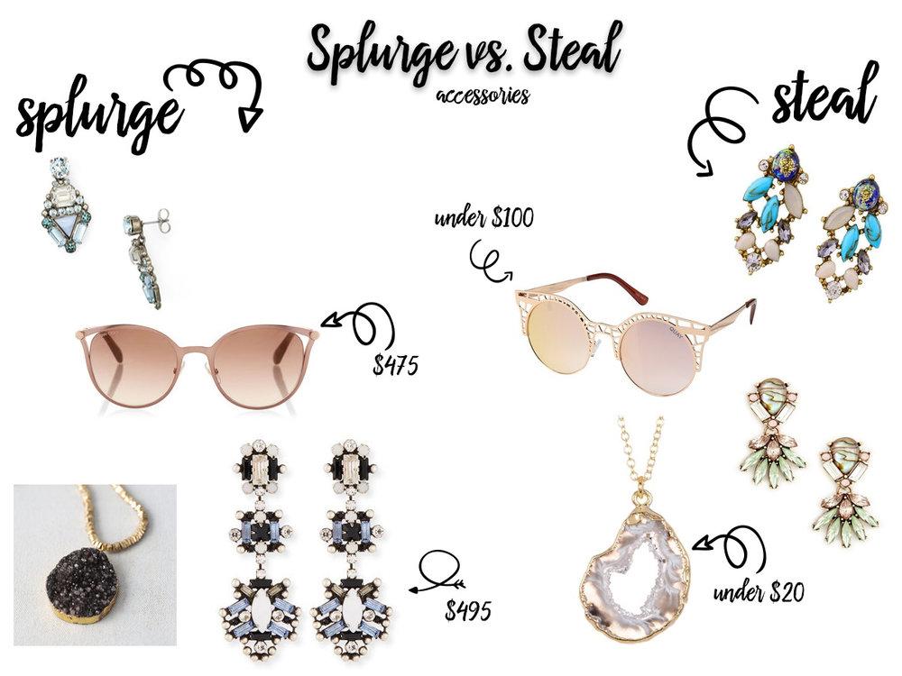 Splurge vs Steal Accessories