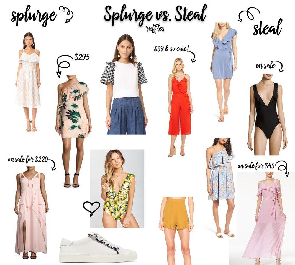 Splurge Vs. Style Ruffle Trend
