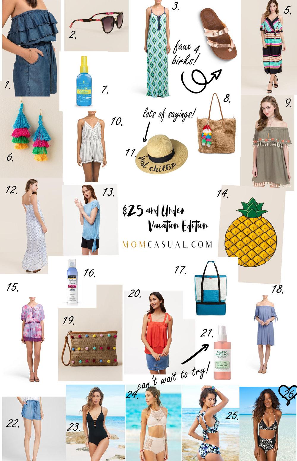 $25 and Under Vacation Essentials