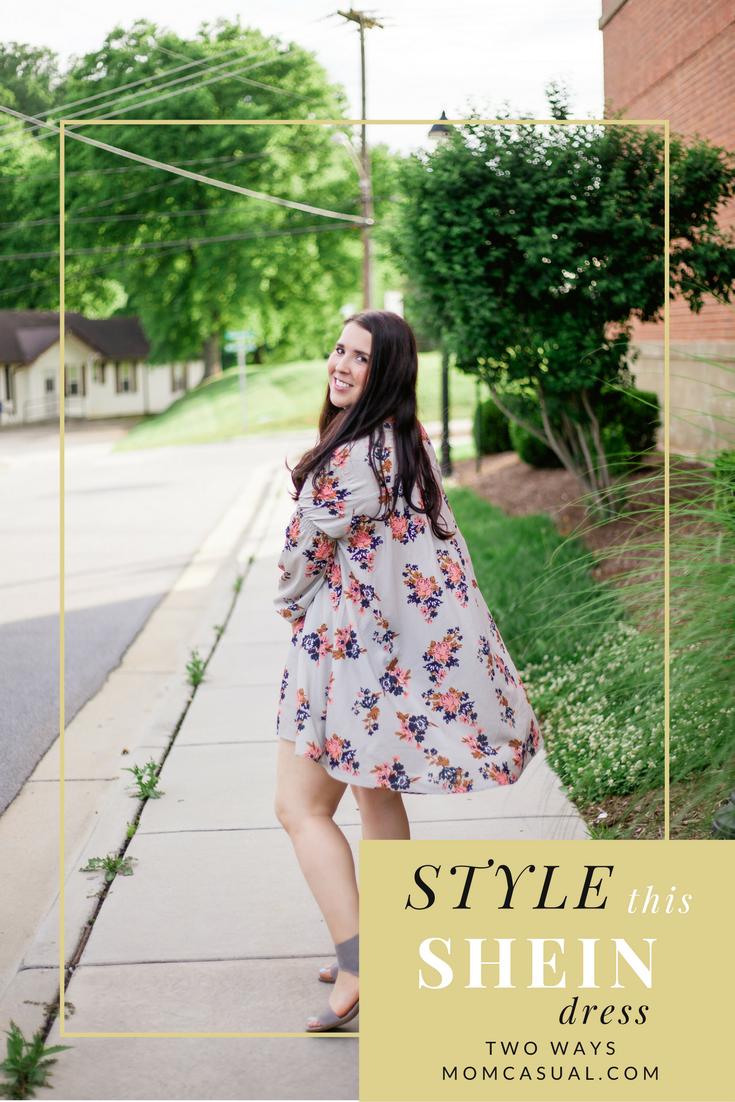 SheIn Dress Styled Two Ways