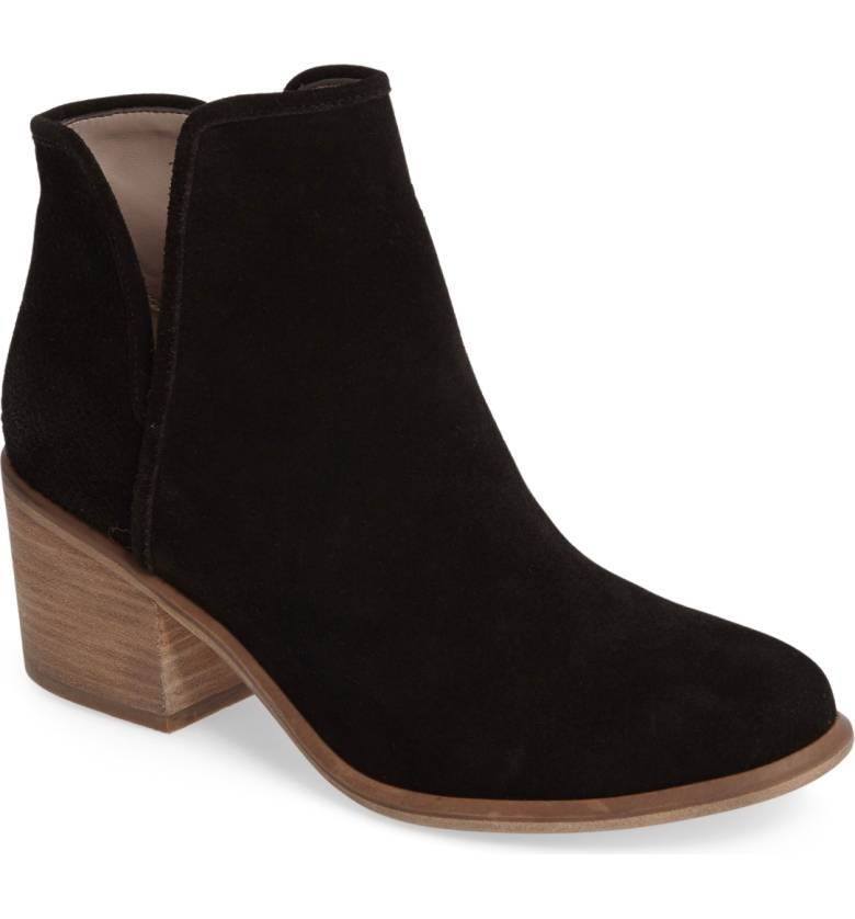 Barris Block Heel Bootie by Hinge