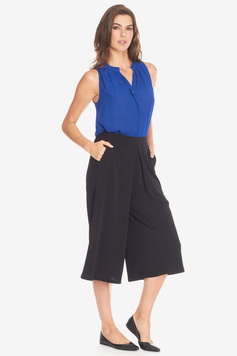 BCBGENERATION Pleated Front Culotte