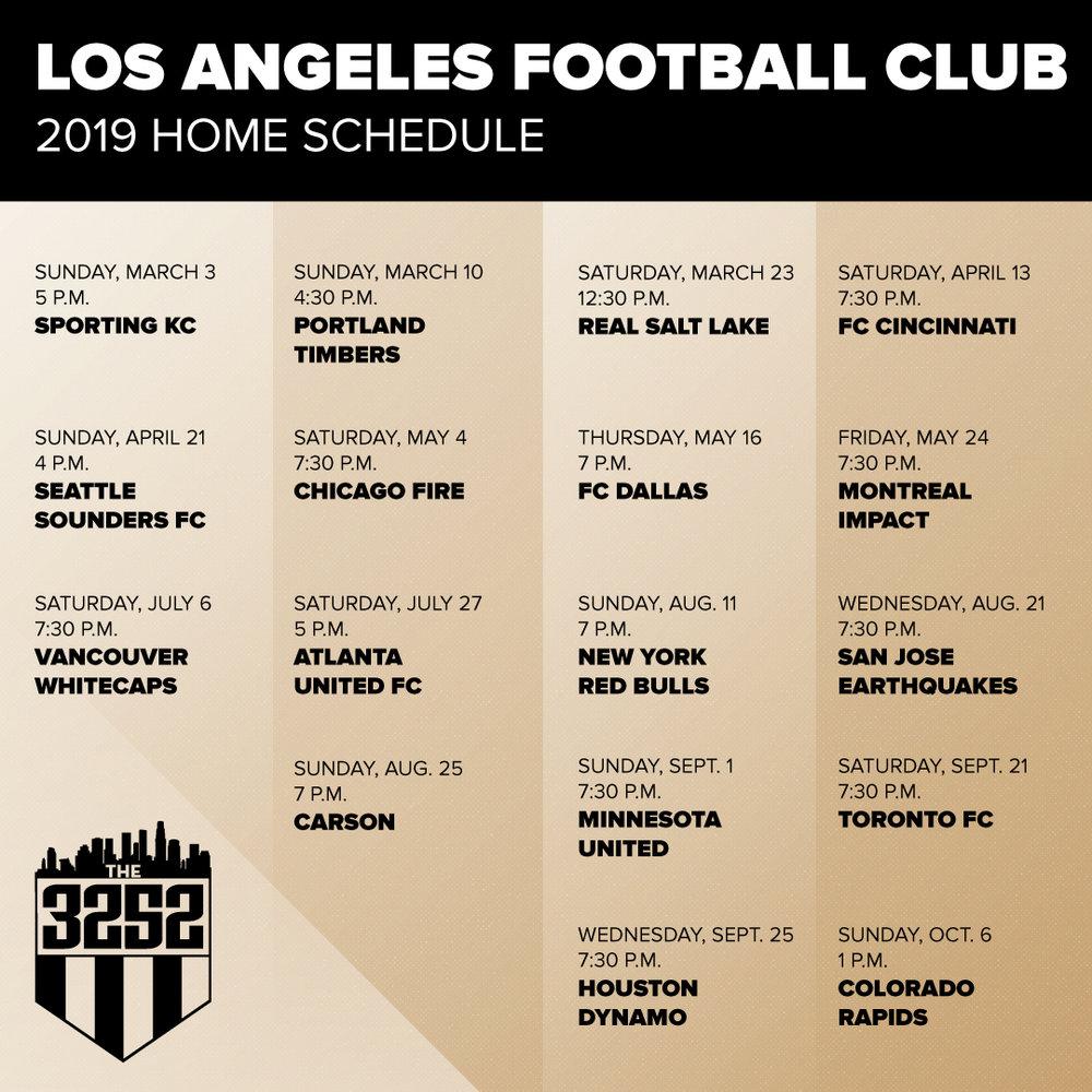221c9b482 LAFC Home Schedule