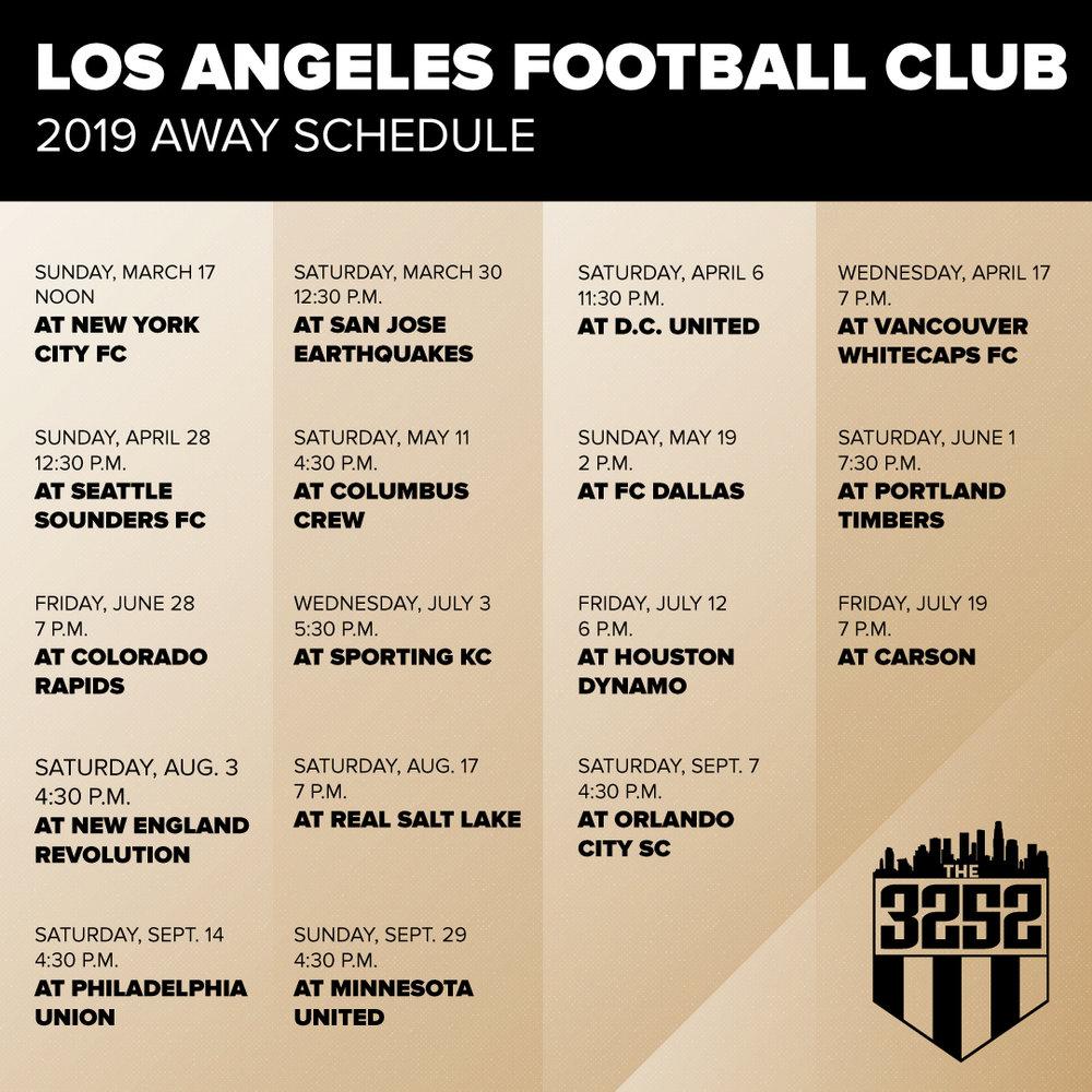 LAFC away schedule