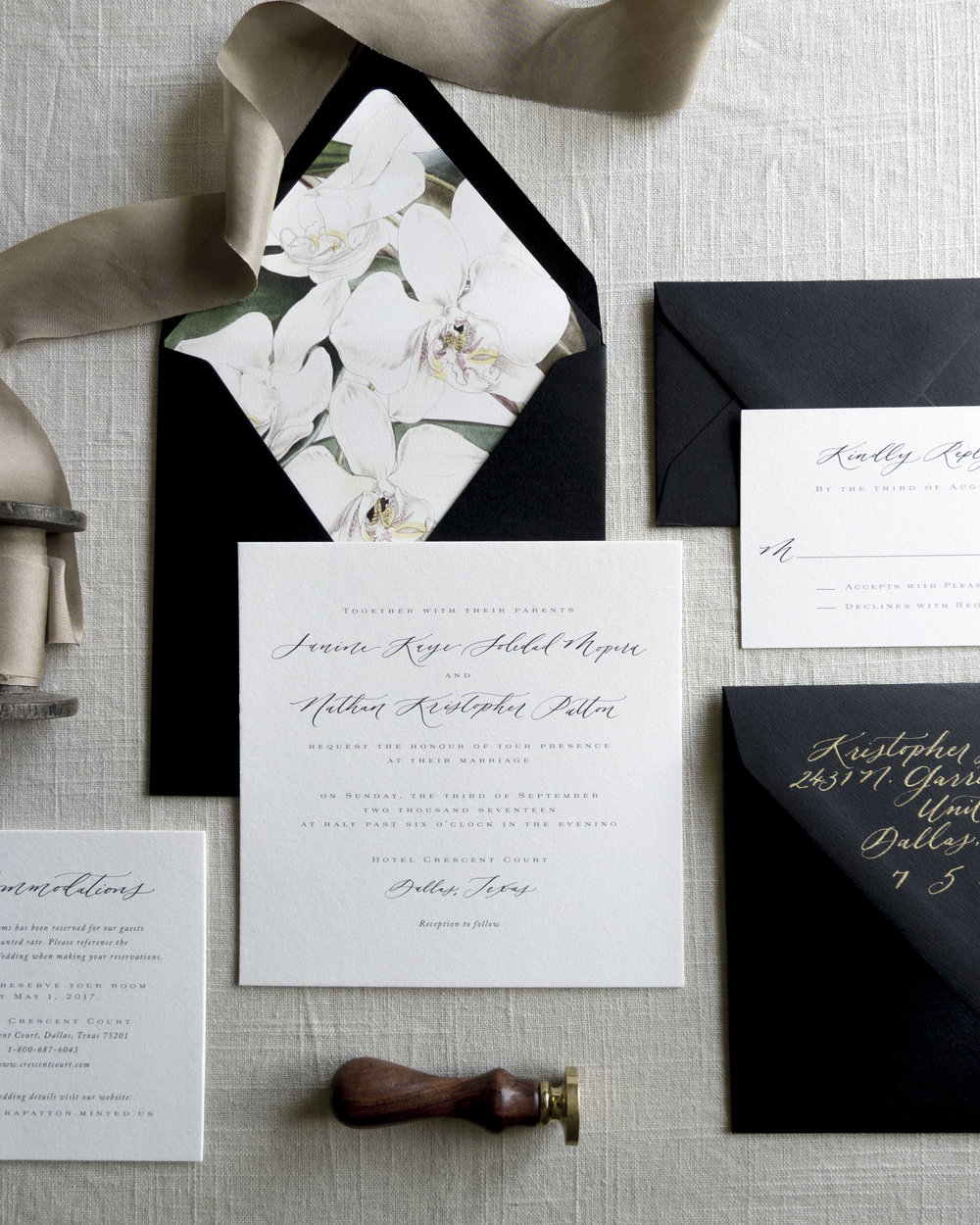 Linen & Leaf Black and White Botanical Suite