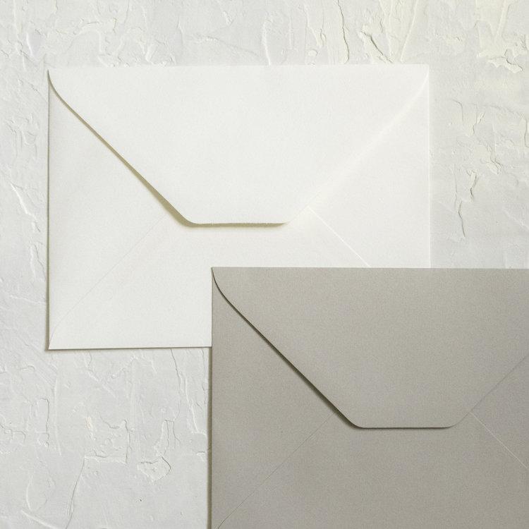 inner and outer envelopes linen leaf