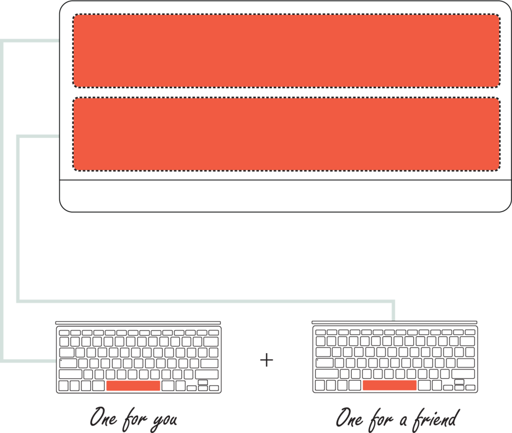 Spacebar Sticker  Packaging