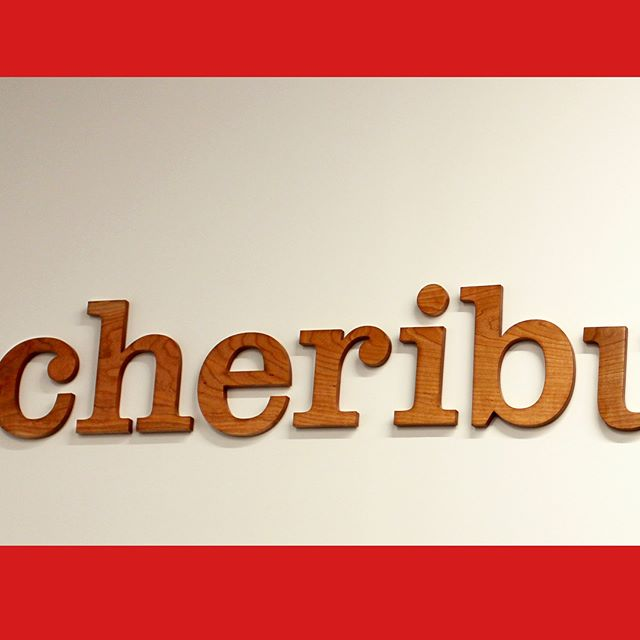 We were thrilled when asked if we could create a sign for above the conference room in Cheribundis new headquarters 🤔 Our mission was to design a sign that could spark enthusiasm in the workplace as well as reflect the ethics of the brand 💡 We then reached out to our good friend @pk_designermaker who just happened to have a few beautiful slabs of upstate cherry 🍒 After engineering the cut files we brought the slabs over to CCMI to be cut on their CNC 🔪 Once cut, the letters were brought back to patrick for carving and finishing 🗜 The letters were then taken to site and installed by using a vinyl decal for guiding screw hole placement🔧 This project is a perfect example of the essential collaborations that need to be executed in order to bring an idea from concept to reality ✌️🇺🇸🍒 BIG Thanks to Patrick Kana and CCMI plastics for another successful collaboration in the books 📚 #localcollaboration #cherryslab #cheribundi #process #design #signage #corporateidentity #workplace #handcarved #cnc #fingerlakes #spacevinyl #genevany