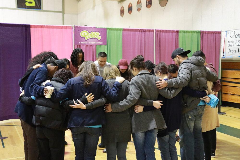 Ekidz prayer huddle.JPG