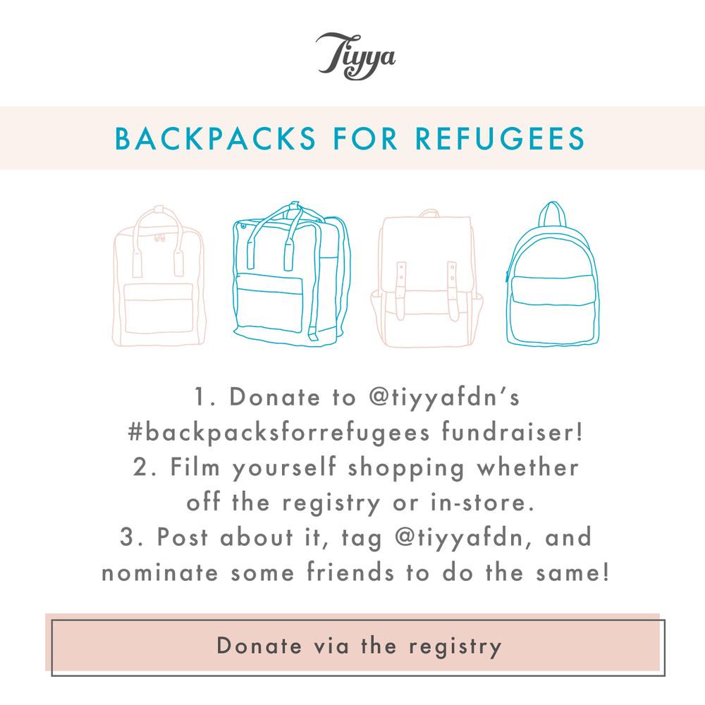 Tiyya, Backpacks for Refugees