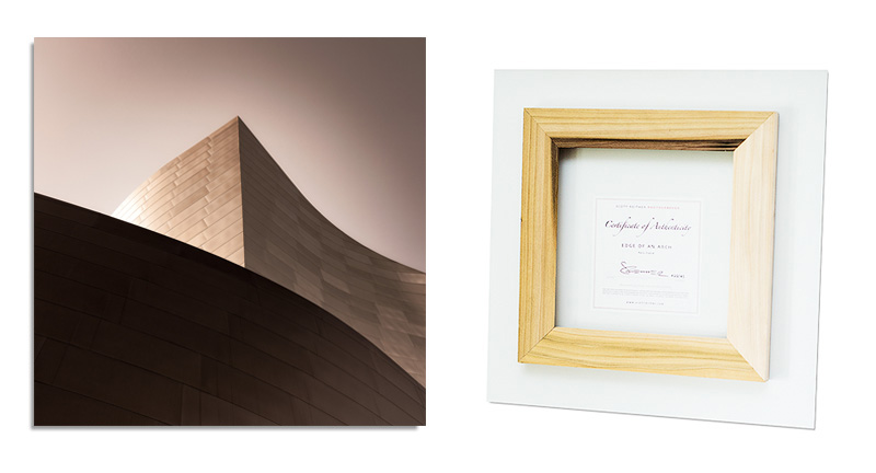MUSEUM STYLE is presented with an inset frame for a floating/frameless style on the wall.