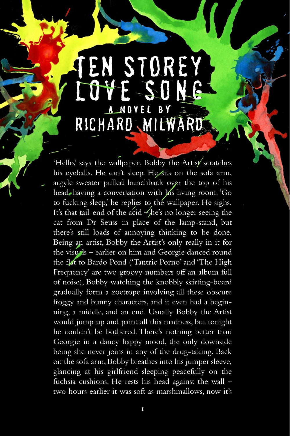 TEN STOREY LOVE SONG (HARPER PERENNIAL, US EDITION)