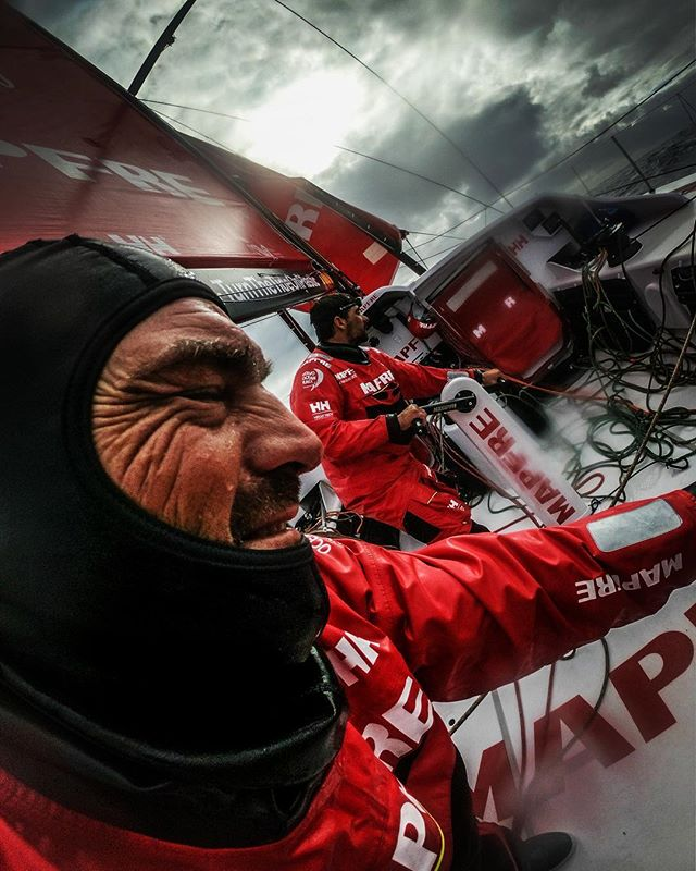 The face of focus, strength and determination. . . . #volvooceanrace #lifeattheextreme #southernocean #leg03 @desafiomapfre #strength #focus #oceanplayground #skipper #leader