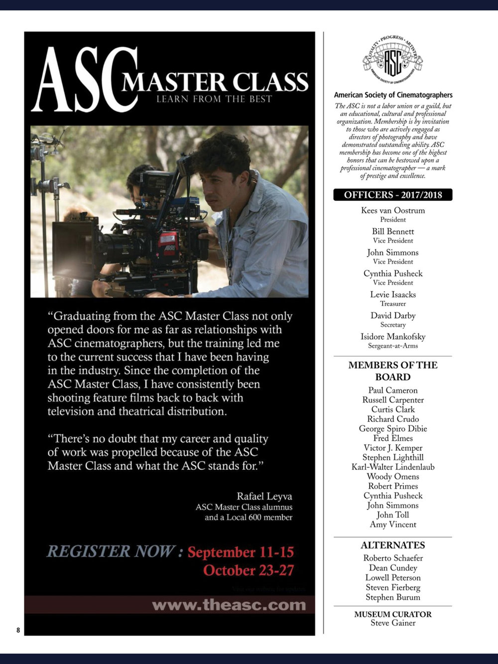 ASC MAGAZINE SEPTEMBER ISSUE 2017